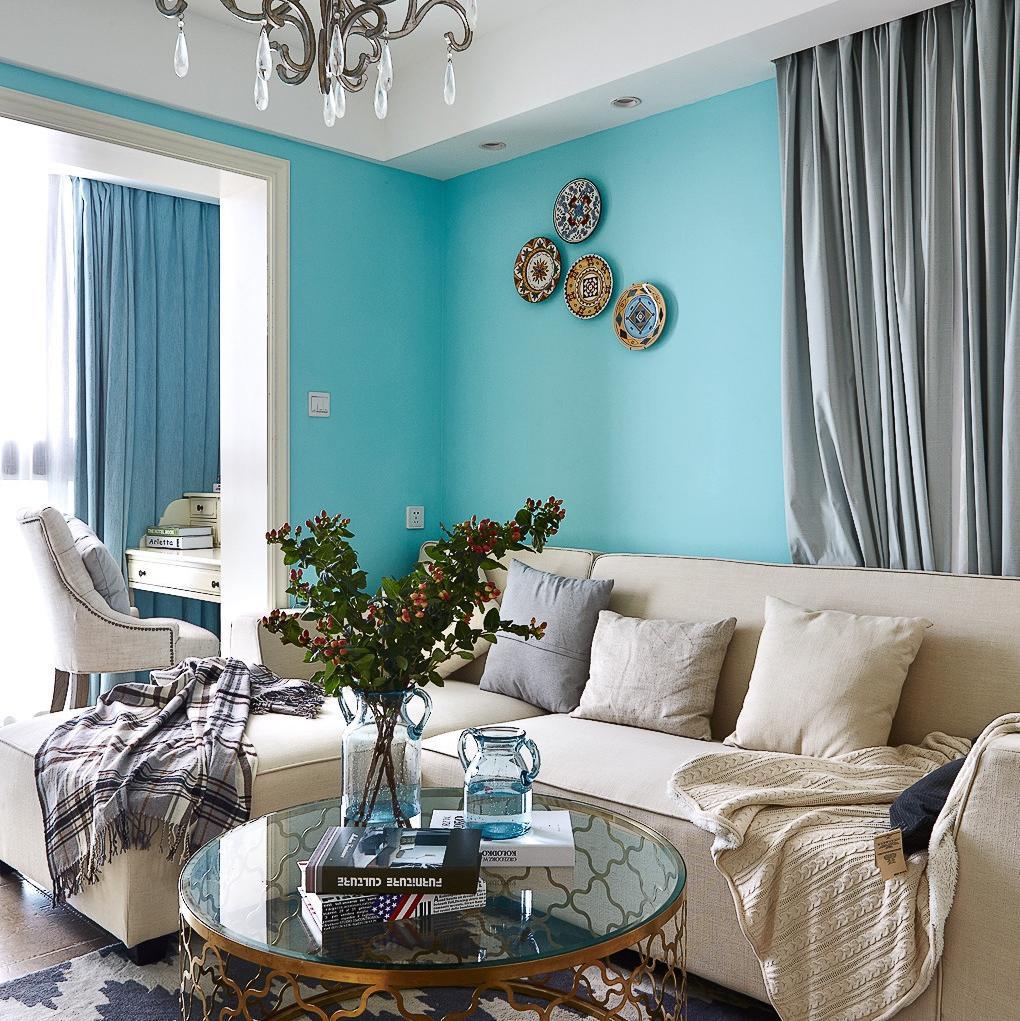 130平美式三居装修设计图