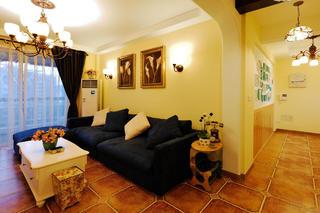 地中海三居装修沙发背景墙图片