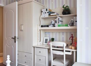 80平欧式风格二居装修书桌图片
