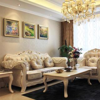 80平欧式风格二居装修实景图