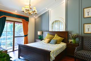 美式复式别墅装修床头背景墙设计