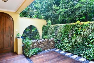 美式复式别墅装修入户花园