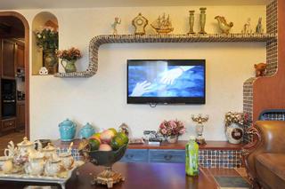 复式奢华美式装修电视背景墙图片