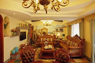 复式奢华美式装修沙发图片