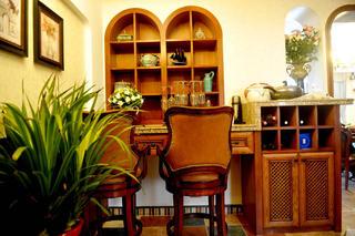 复式奢华美式装修吧台设计