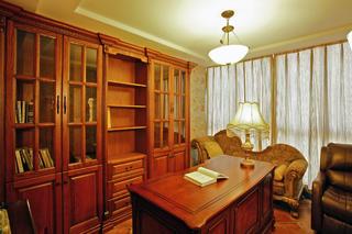 复式奢华美式装修书房欣赏图