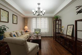 休闲美式三居装修客厅布置图