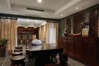 中式风格会所装修茶室设计图