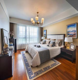 110平新中式风格装修卧室效果图
