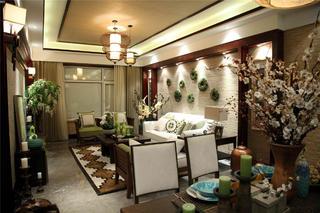 东南亚风格三居室装修客厅设计图