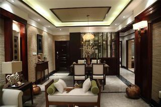 東南亞風格三居室裝修餐廳布置圖