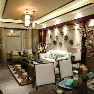 东南亚风格三居室装修设计图