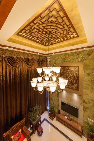 中式别墅装修客厅吊顶