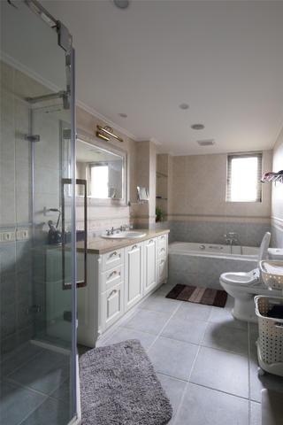 美式别墅装修卫生间构造图