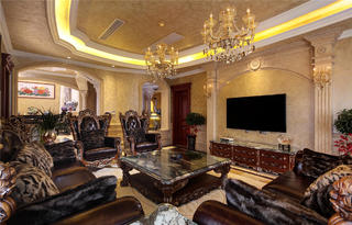 欧式别墅装修客厅设计图