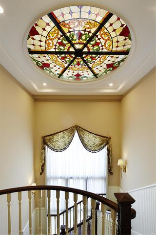 美式别墅装修设计天花吊灯图片