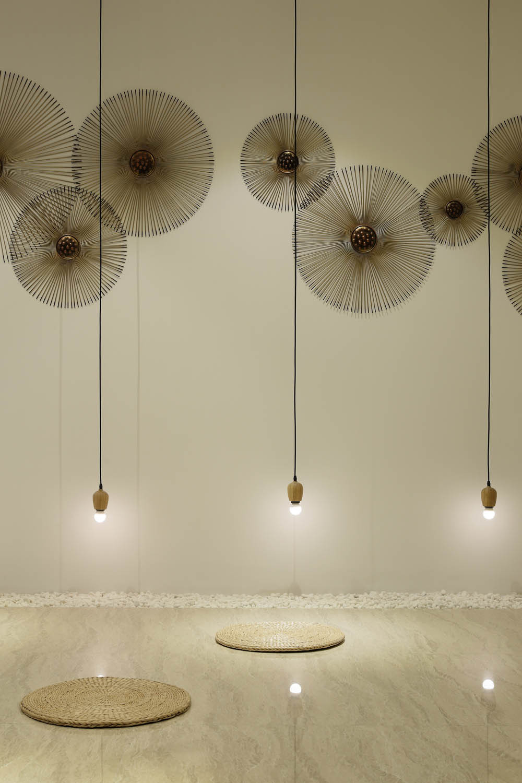 简约中式风办公室装修墙面装饰