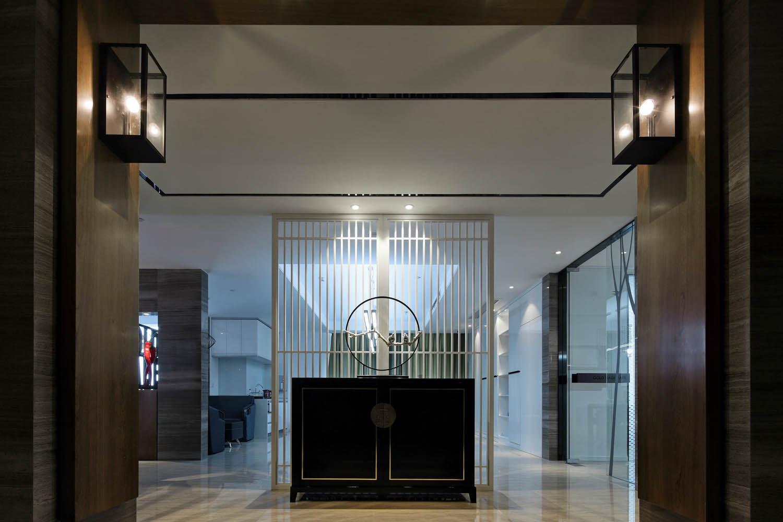 简约中式风办公室装修玄关设计