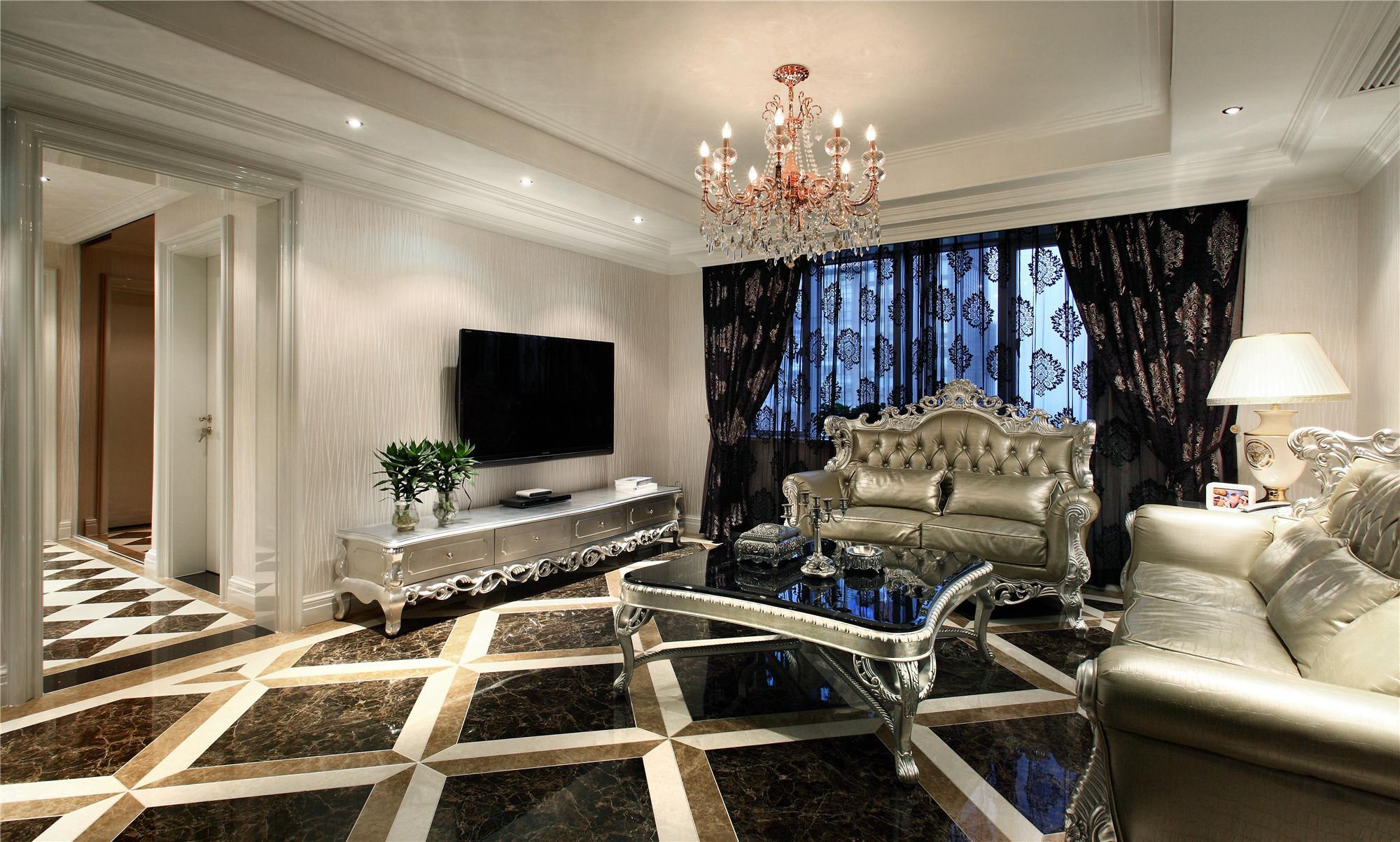 新古典装修客厅装潢图