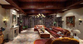 古典美式别墅装修客厅布置图
