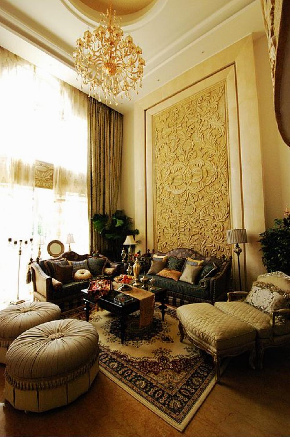 欧式别墅装修客厅装潢图