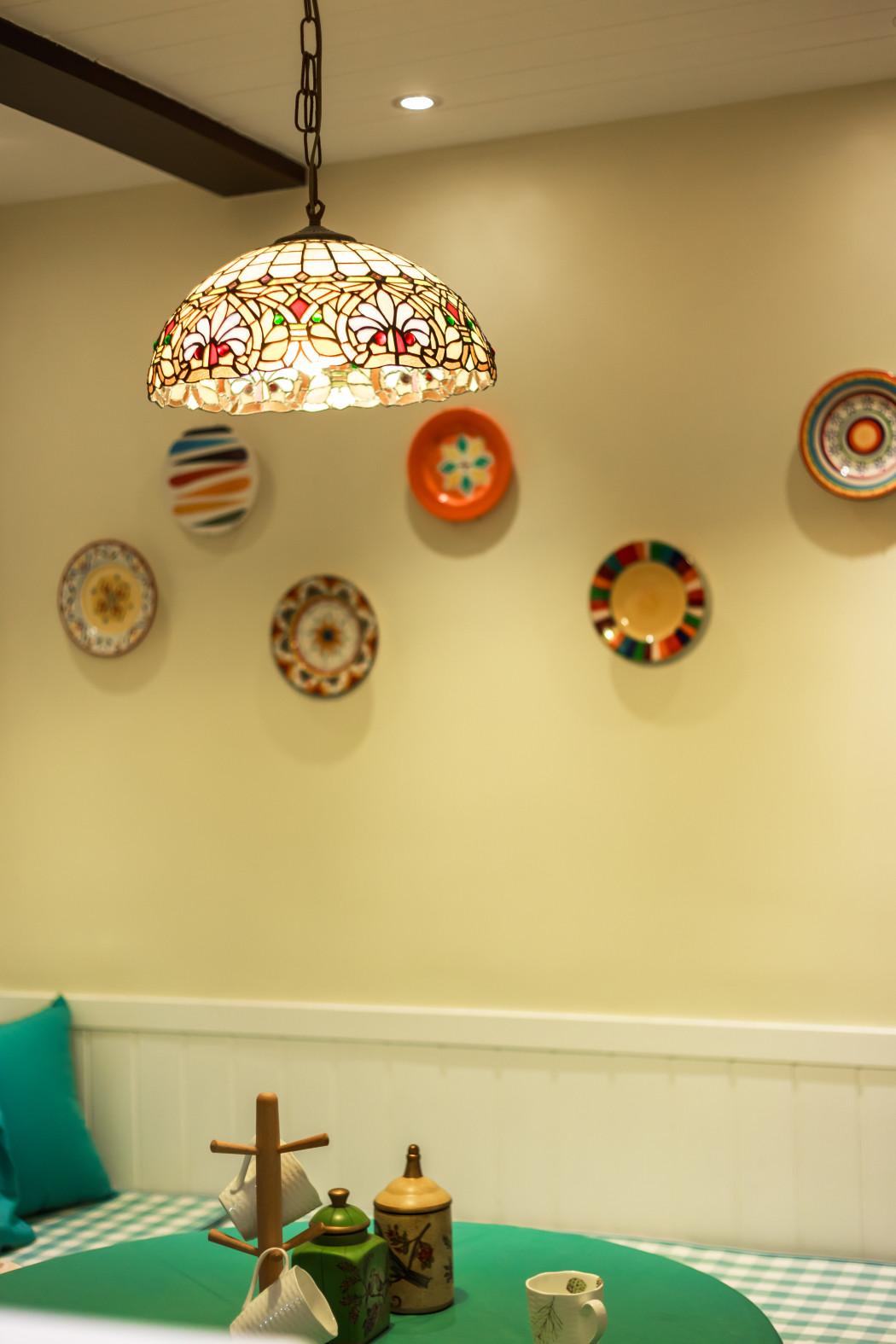 110平美式装修餐厅背景墙图片
