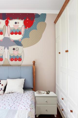 小户型混搭风装修床头背景墙图片
