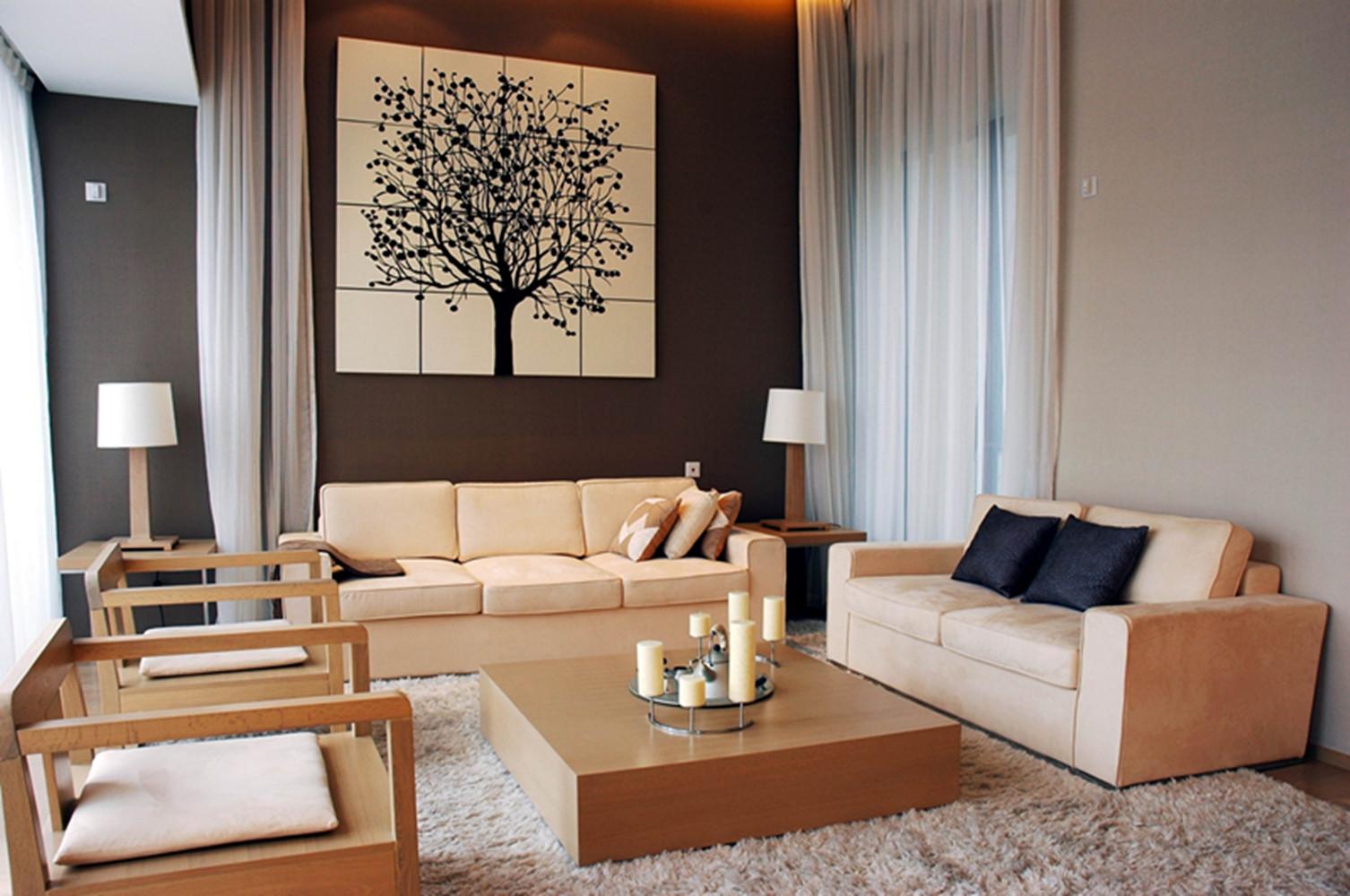 现代风格别墅设计起居室搭配图