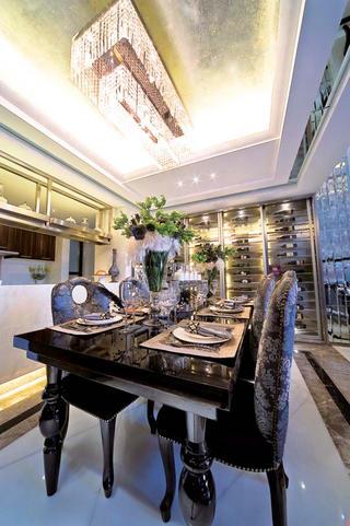后现代别墅装修餐厅设计图