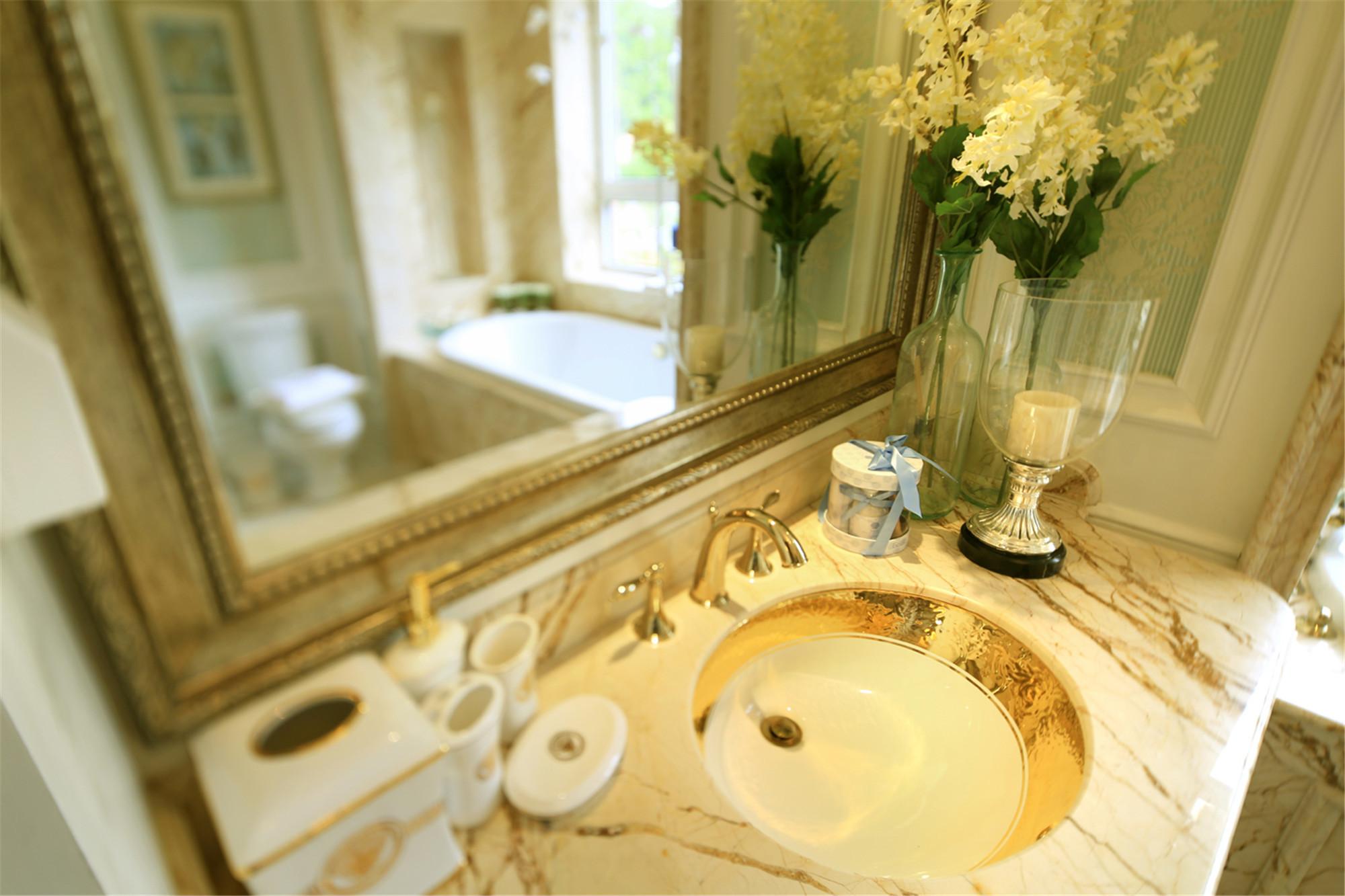 欧式别墅装修洗手台图片