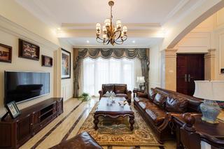 简美别墅装修客厅设计图