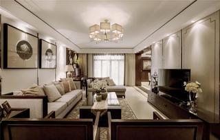 大户型新中式装修客厅设计图