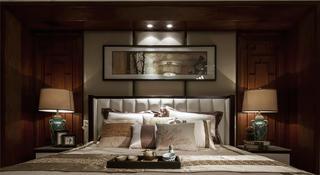 大户型新中式装修卧室效果图