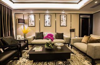 现代中式装修沙发背景墙图片