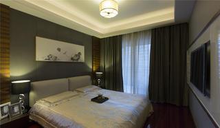 大户型现代中式装修卧室布置图