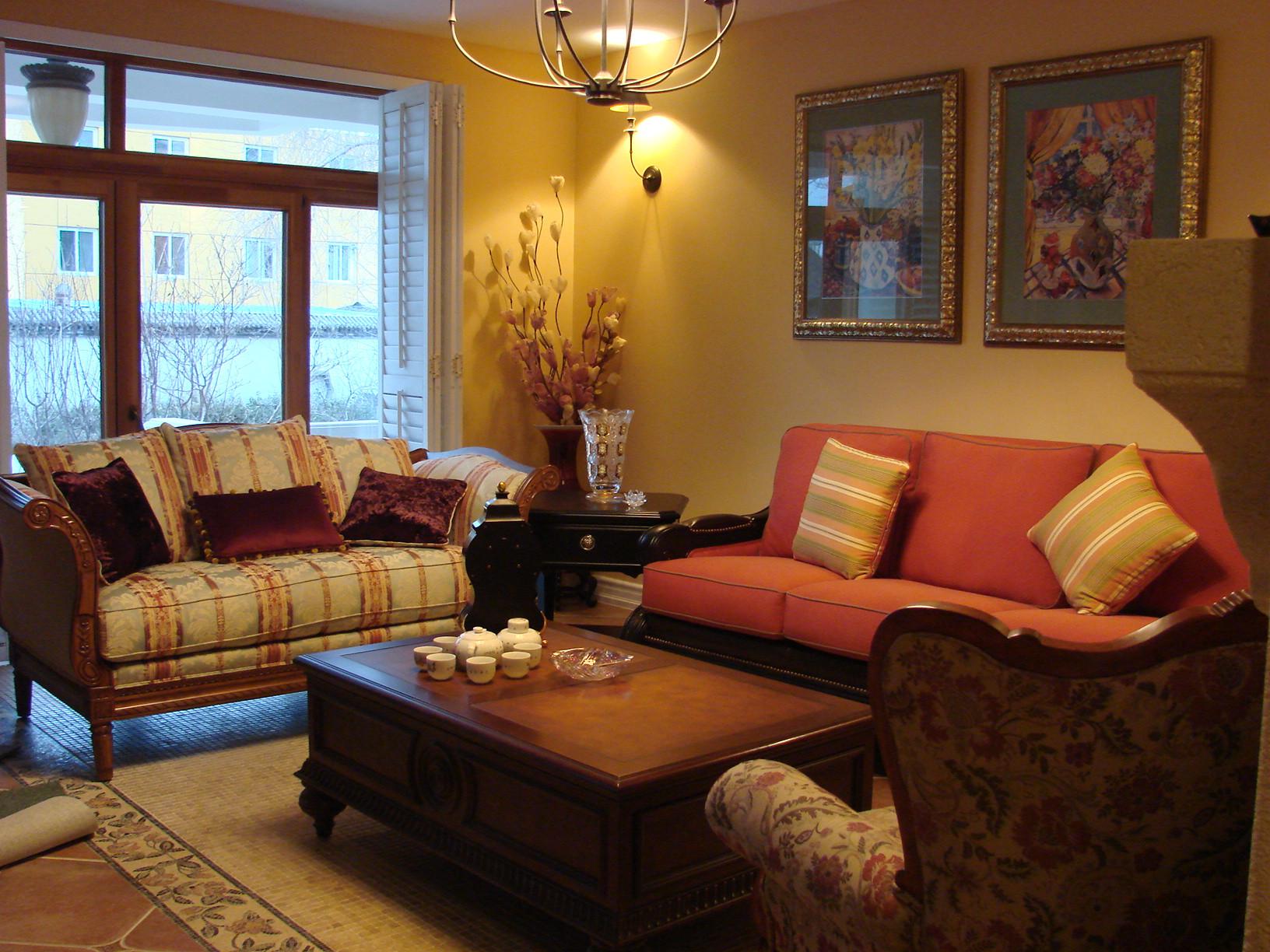 田园风格别墅设计客厅搭配图