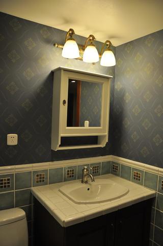 欧式风格别墅装修洗手台图片