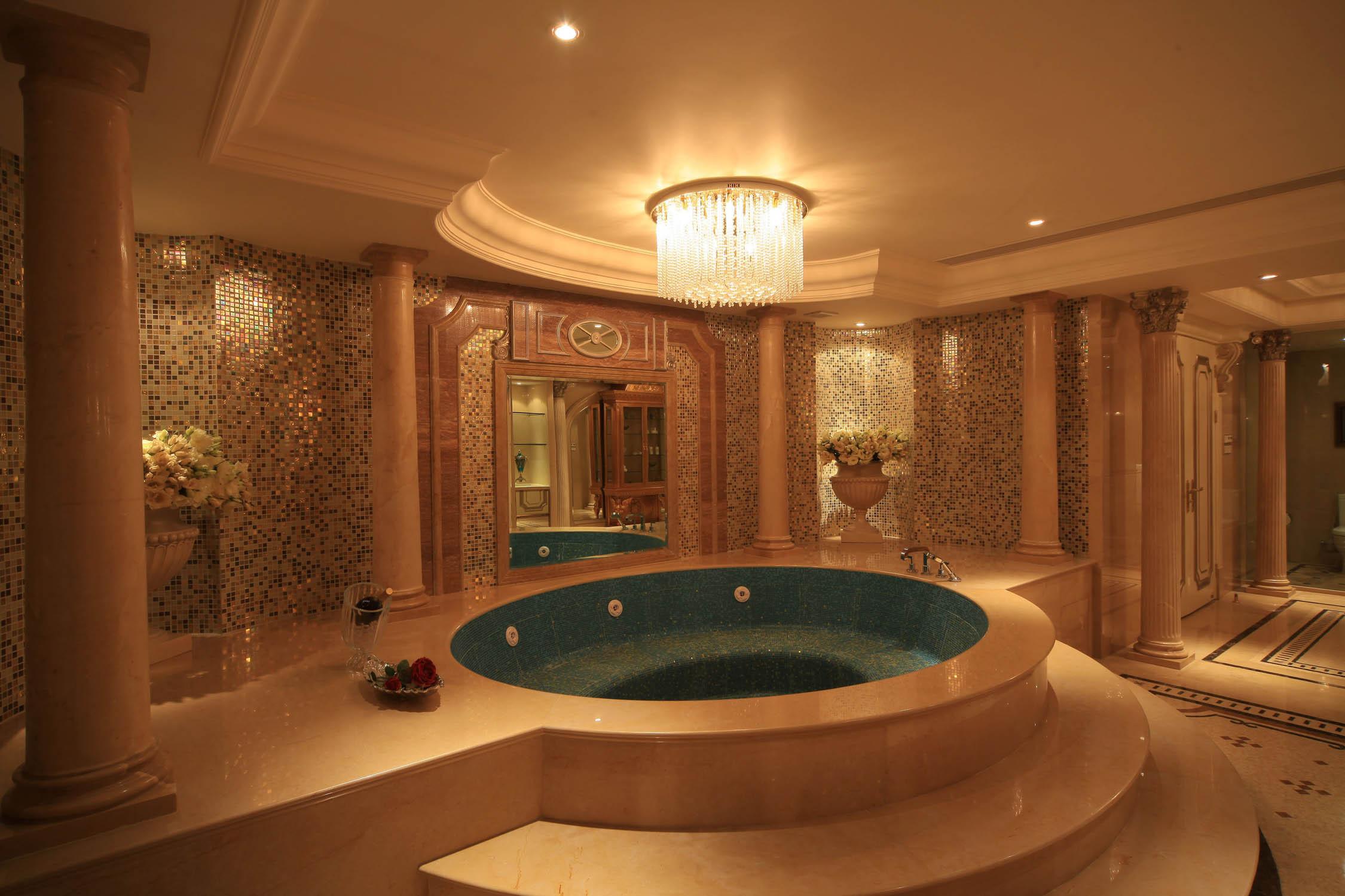 现代欧式别墅装修spa间设计图