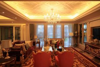 现代欧式别墅装修客厅装潢图