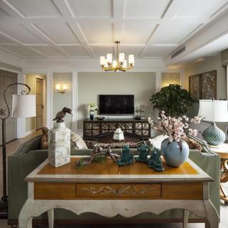 117平现代美式家装修设计图