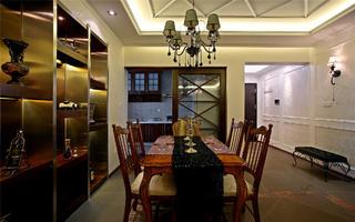 美式风二居装修餐厅搭配图
