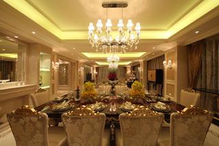 大户型欧式风格装修餐桌椅图片