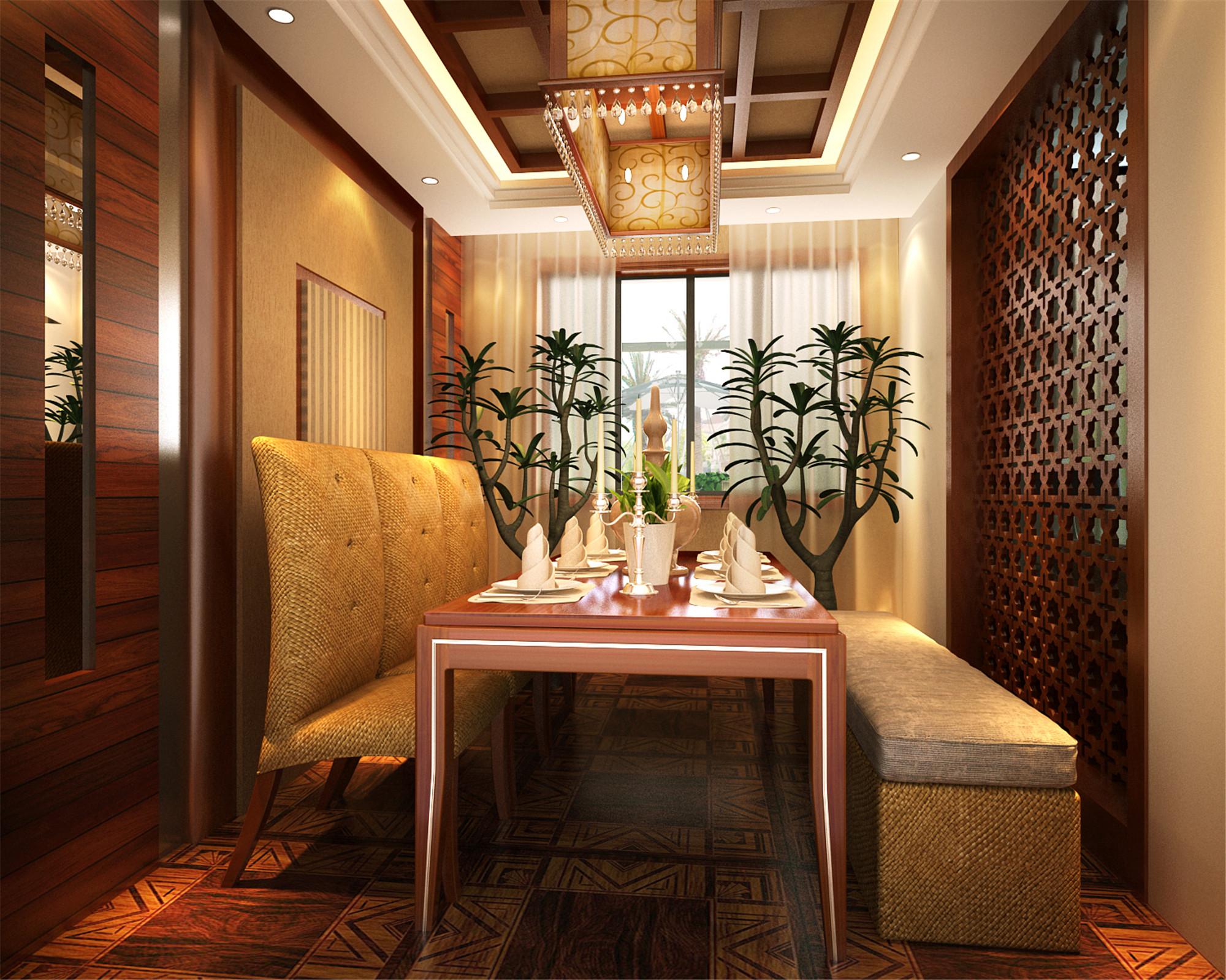 大户型东南亚风格装修餐厅效果图