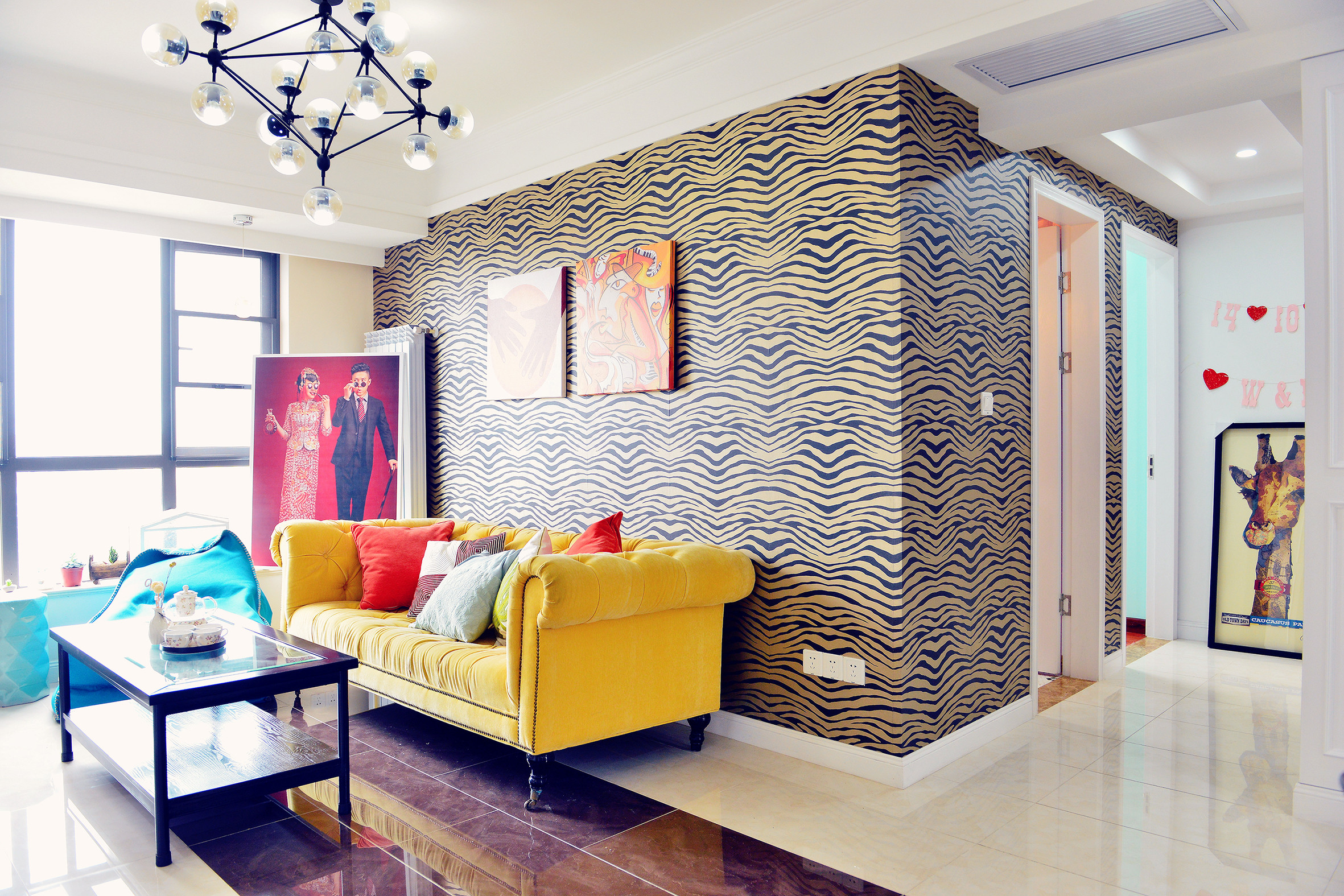 混搭风格三居客厅搭配图