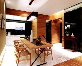 80平一居室餐厅效果图