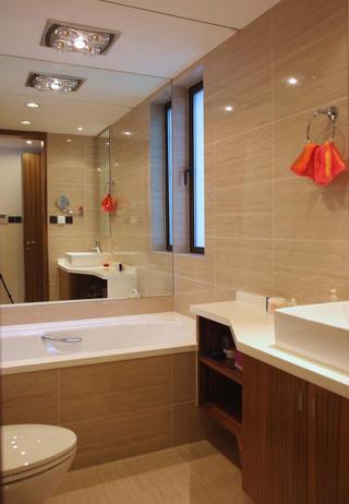 混搭风格二居室装修卫生间设计图