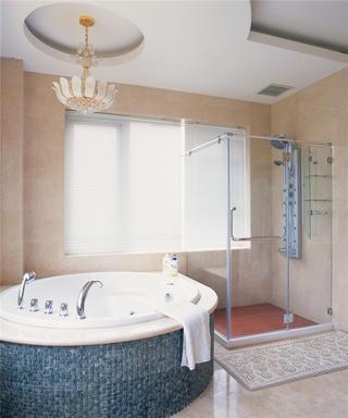 欧式豪华古典别墅装修卫生间设计图