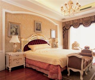 欧式豪华古典别墅装修卧室搭配图