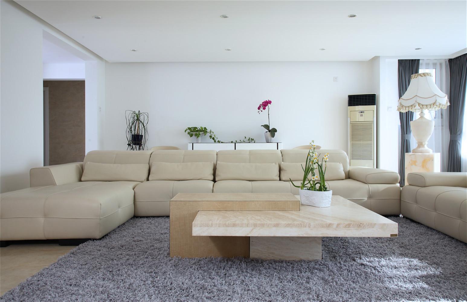 140平简约装修沙发背景墙图片