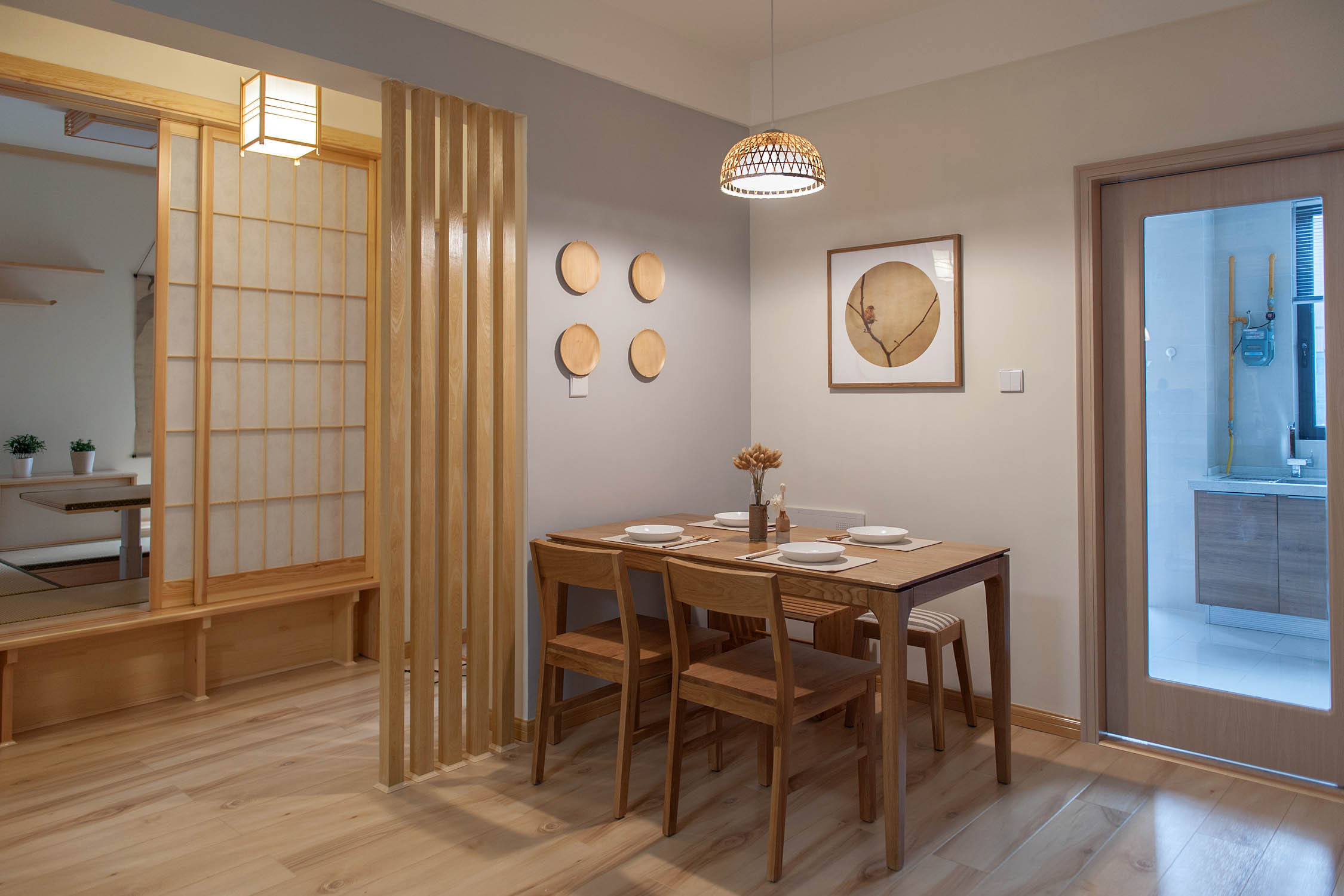 日式三居装修餐厅效果图